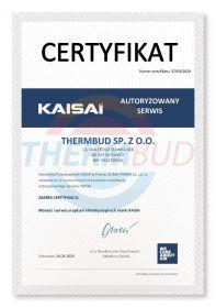 Certyfikaty - KAISAI - Autoryzowany Serwis
